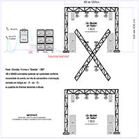 Festa - Som, luz aprimorado e montagem com treliças de suportes superiores nos formatos de X ou Quadros ou Circular, para festas grandes e baladas